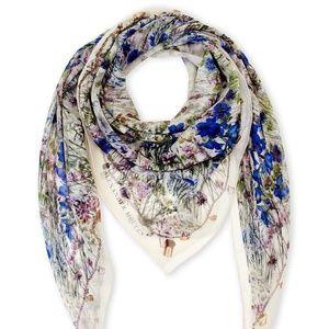 Alexander McQueen Silk Floral Scarf 55 x 55 NWT